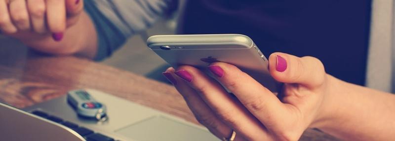 Girl on Her Phone Blog Header